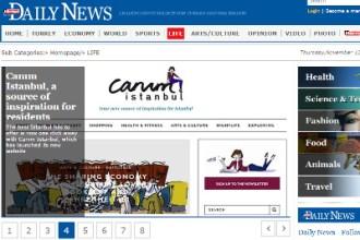 Hürriyet Daily News screenshot for slider