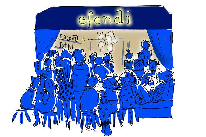 People hanging out at Efendi