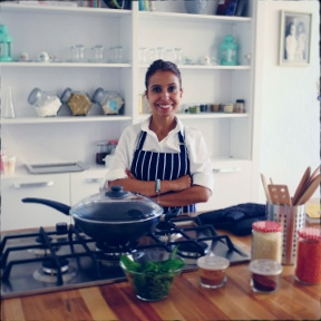 Melis Doeh in her kitchen