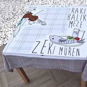 Zeki Müren tablecloth from Zoohoo Dream
