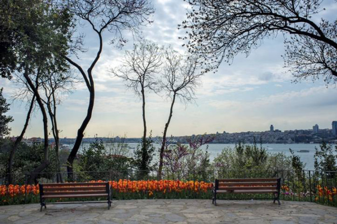 View of the Bosphorus from Fetih Pasa Korusu