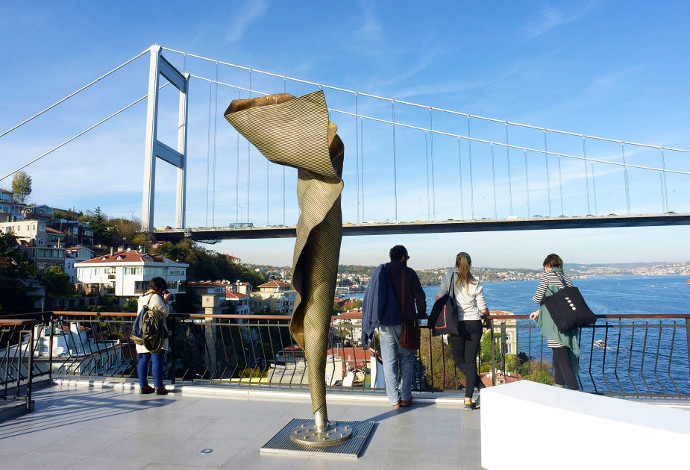 View of the Bosphorus from Borusan Contemporary Museum