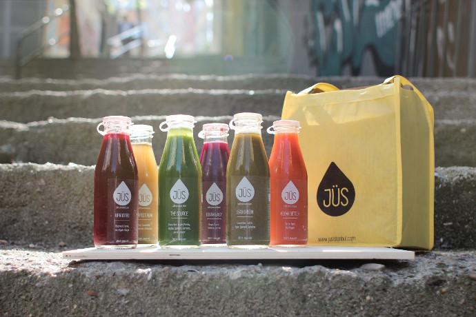 JÜS cold pressed juice