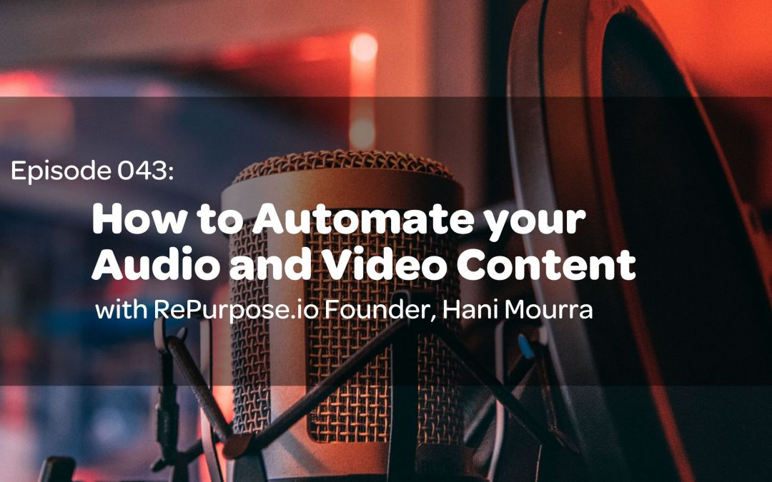 E43: How to Automate your Audio and Video Content with RePurpose.io Founder, Hani Mourra