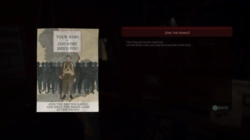In-game collected document screen. Document on the right, text of the document on the right.