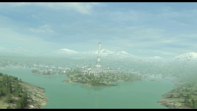 Opening cutscene showing Cyrodiil in the distance
