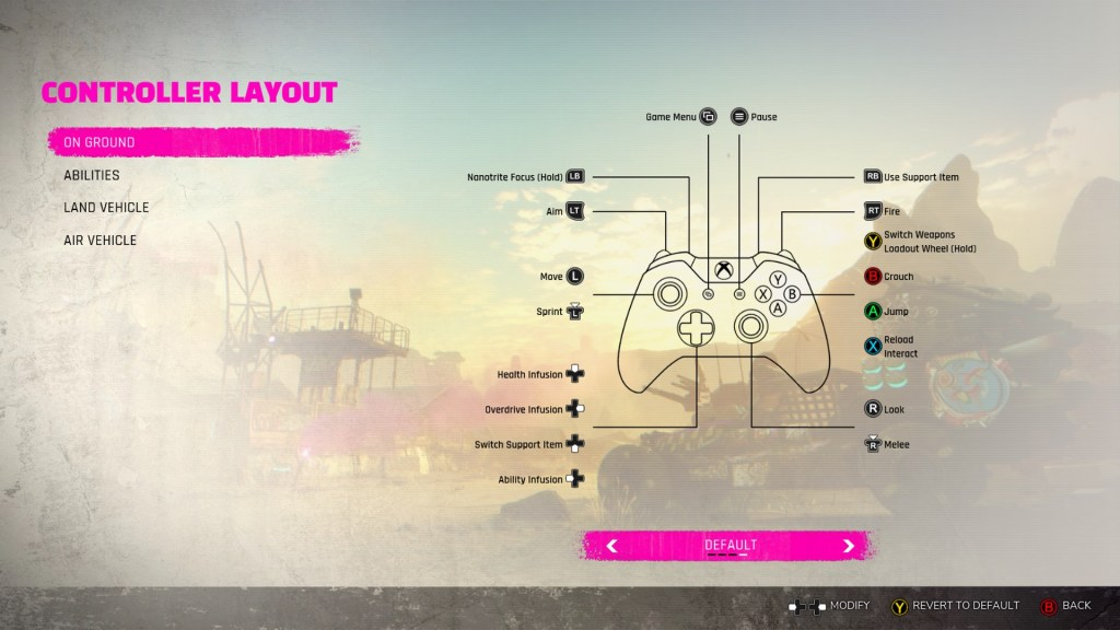 On ground controller layout
