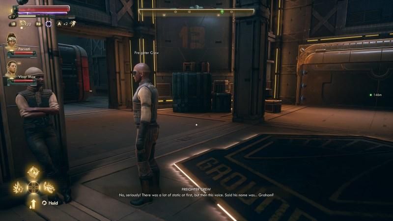Illustrating the NPC dialogue subtitles.