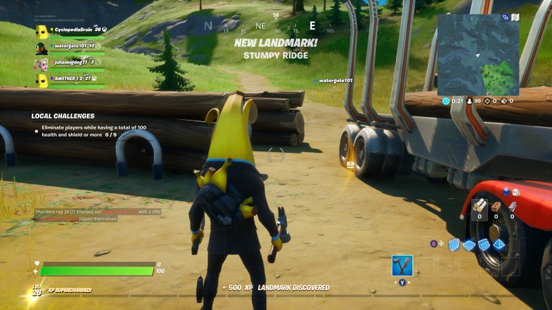 Sound visualization indicating a nearby loot chest.