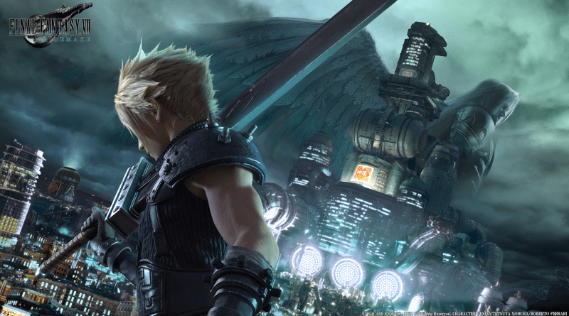 FFVII press art