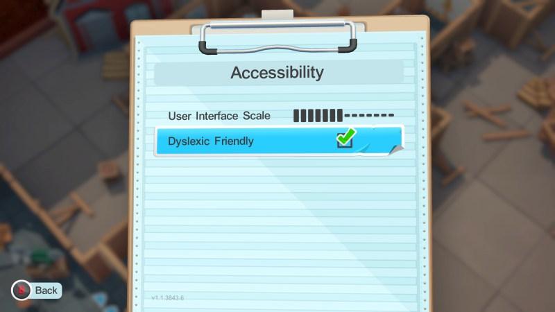 The dyslexic friendly font option.