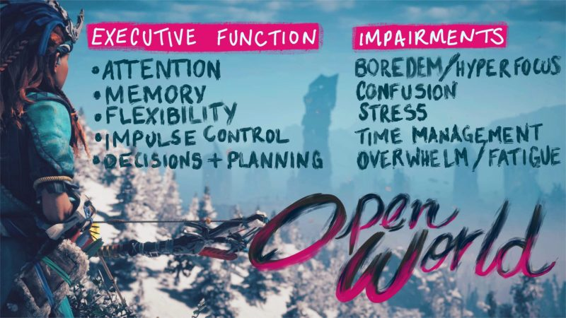 Open world: executive function and impairments