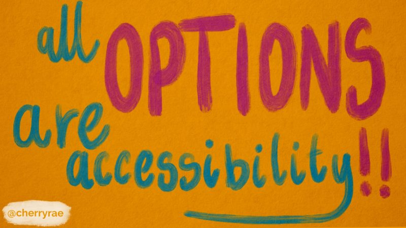 All options are accessibility