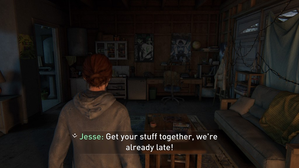 The Last of us 2 - Illustrating the subtitles at their largest size option.