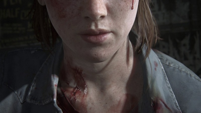 The Last of Us 2 Ellie's mouth and neck