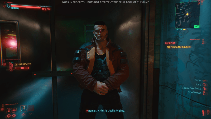 Cyberpunk 2077 lots of HUD elements from 2020