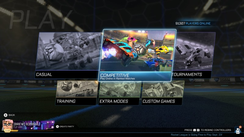 Rocket League new game mode area