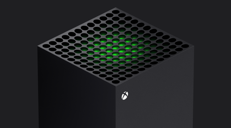 The honeycomb top of the Xbox Series X