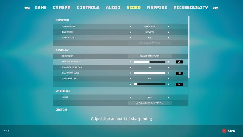 Biomutant accessibility video area