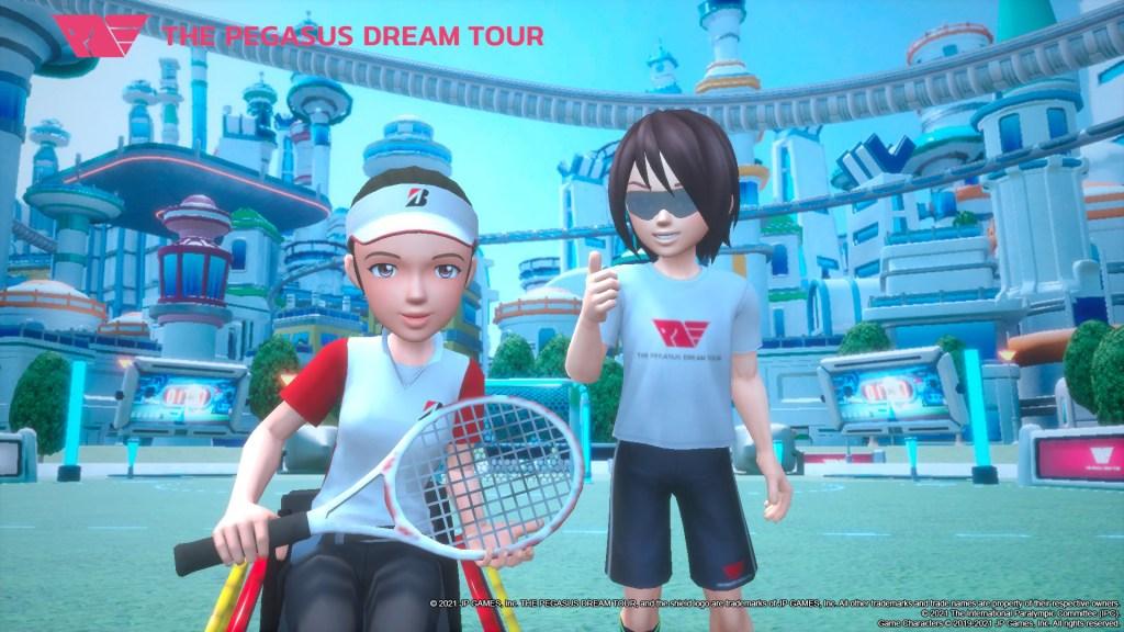 pegasus dream tour duo posing together