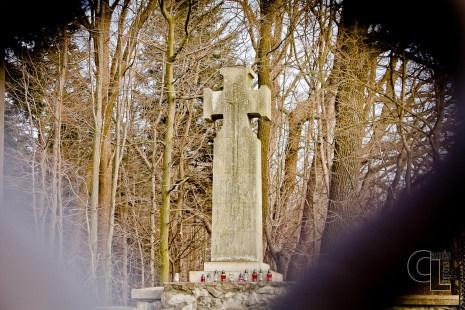 Krzyż maltański na cmentarzu nr 15 w Harklowej
