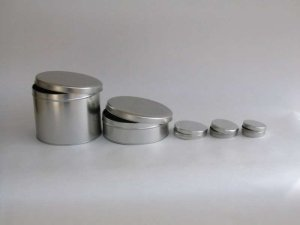 embossed branded tins canisters
