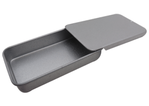 Small Rectangular Metal Slide Top Tins