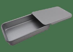 Small Rectangular Metal Slide Top Tins