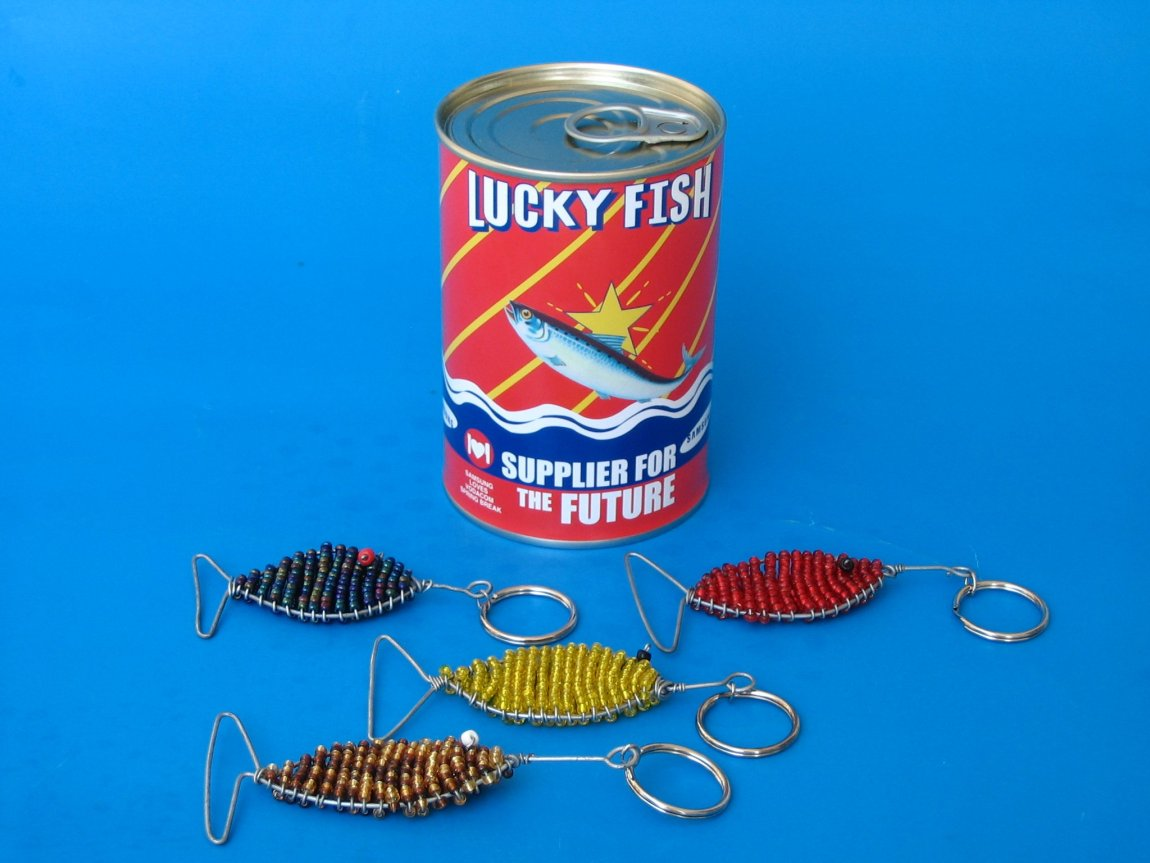 lucky fish tin can promotion