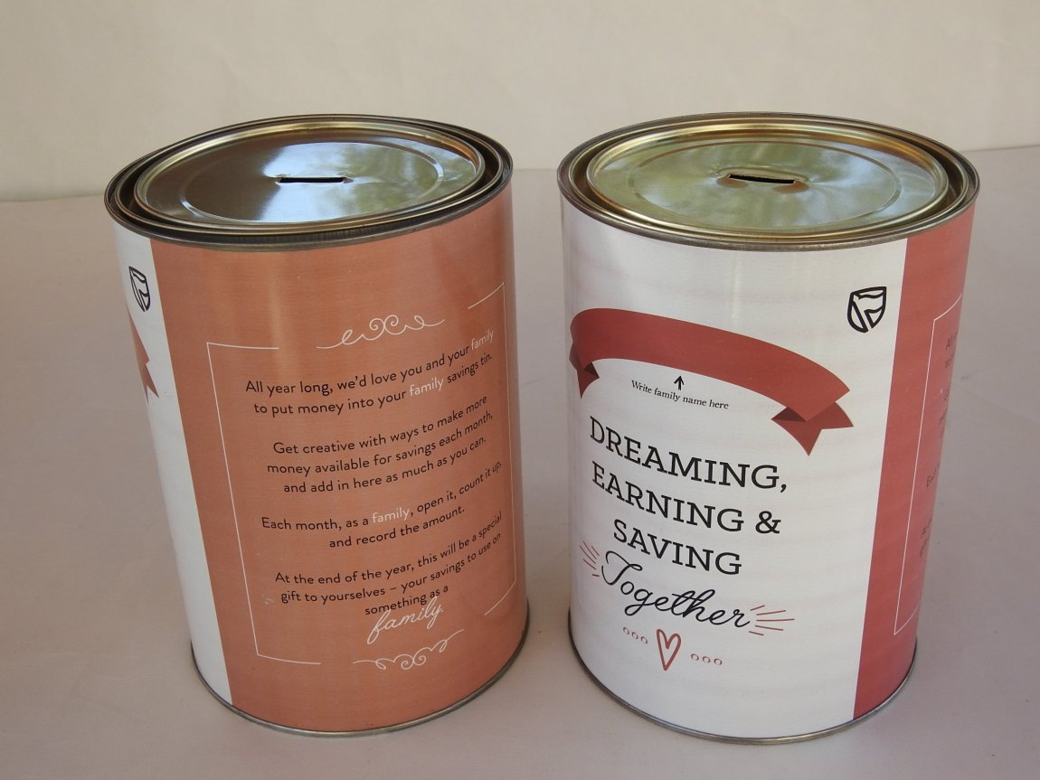 Large Savings tins