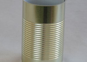 Open Round Metal Tin Can