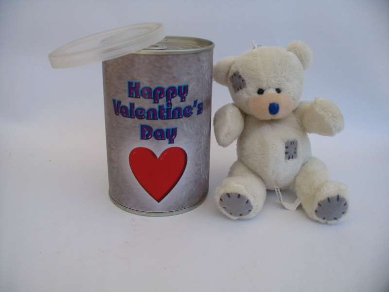 Teddy Bear sealed in a Tin Can with your branding, Teddy Tins