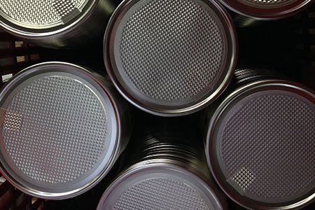 Alufix Metal Peel-Off Lids stacked - manufacturer south africa