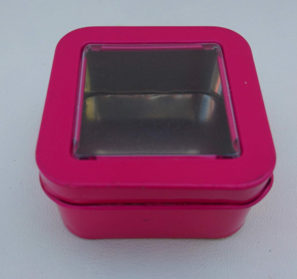 Can It's Mini Neon Pink Square Window Tins