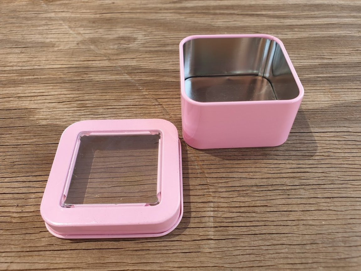 Light Pink Square Window Tins