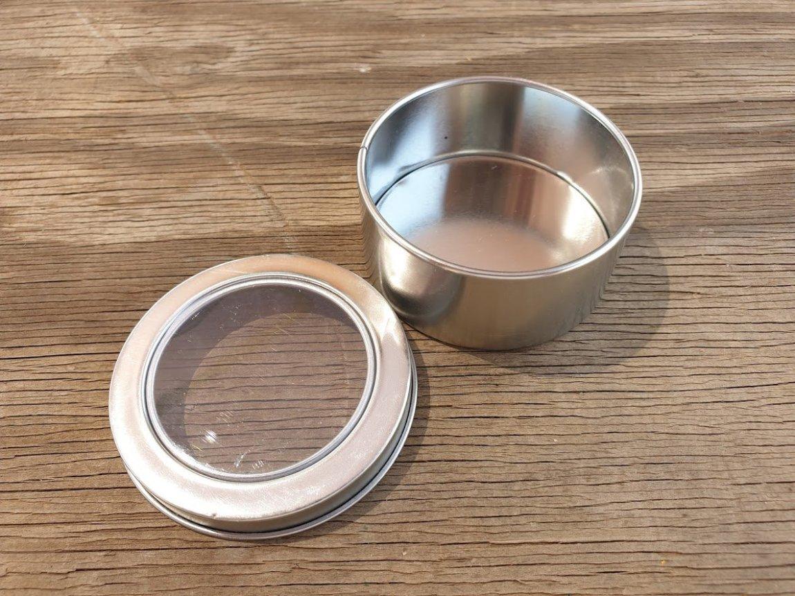 Silver Round Window Tins
