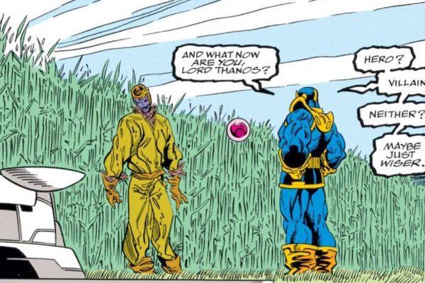 *¿Y ahora que eres tú Lord Thanos? ¿héroe? ¿villano? ¿ni lo uno ni lo otro?