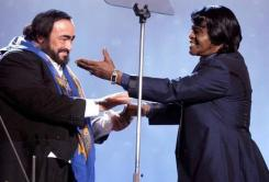 CIBASS James Brown con Luciano Pavarotti