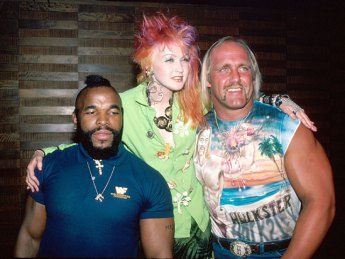 CIBASS Hulk Hogan con Cindi Lauper y Mister T