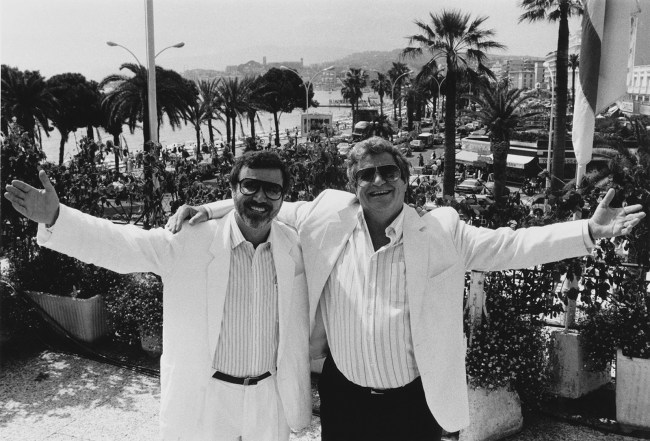 Yoram Globus (izquierda) y  Menahem Golan, dueños de Cannon Films
