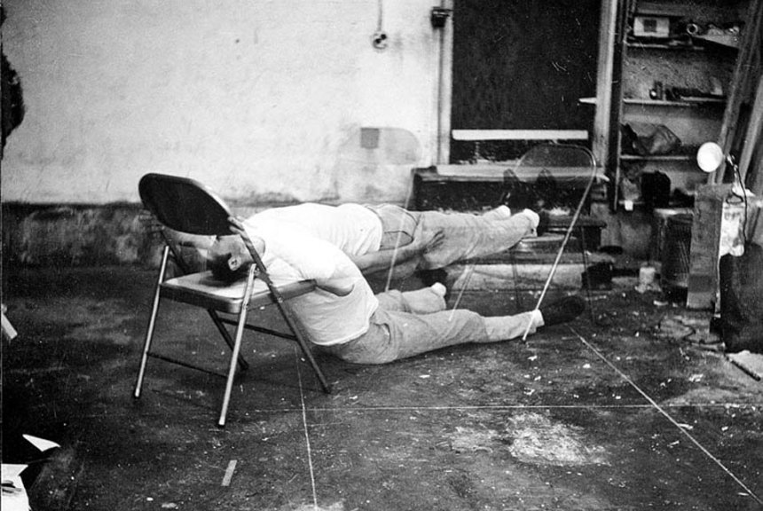 Bruce Nauman, Failing to Levitate in the Studio, 1966