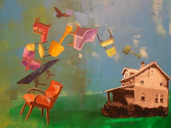 "Julie Friedman, ""Leaving."" Acrylic."