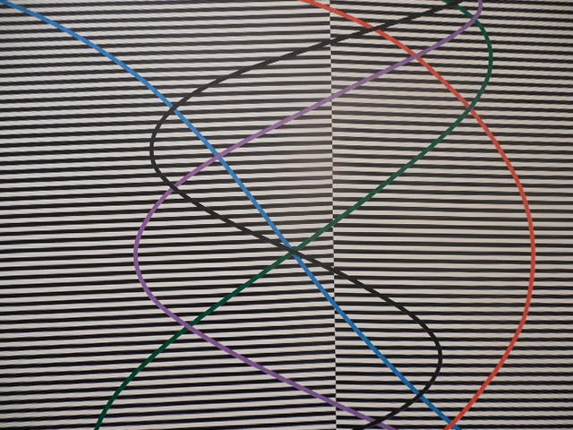 "Detail from James March's ""Untitled #5 Op Series,"" acrylic on canvas."