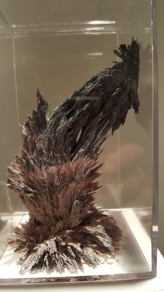 Matthew Gallagher, sculpture, iron filings homogenized with acrylic paint