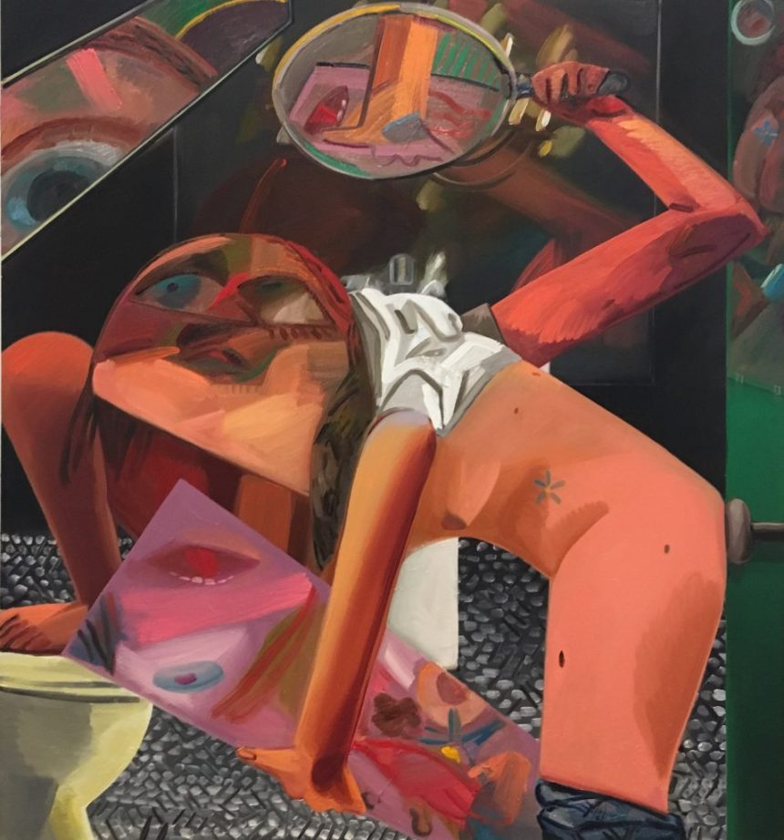 Self- Exam, 2017. Dana Schutz (American, born 1976). Oil on canvas. 91 x 84 inches. © Dana Schutz, courtesy of Petzel Gallery, New York and Contemporary Fine Arts, Berlin