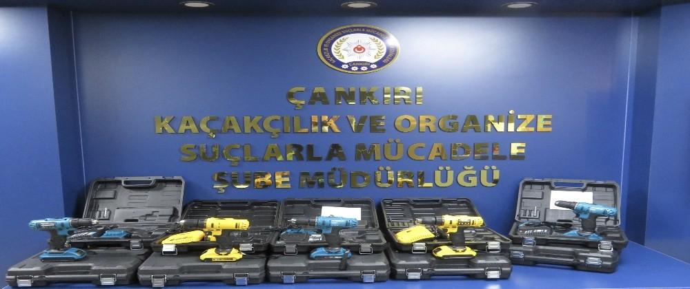 Çankırı'da kaçak 'matkap' operasyonu