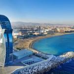 Baie de Barcelone plages Hôtel W