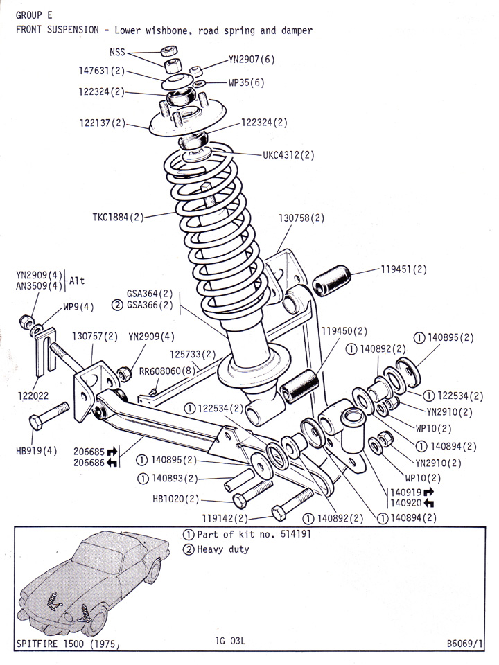 Triumph suspension link broke : Spitfire & GT6 Forum