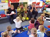 A visit from Canmore Firefighters.