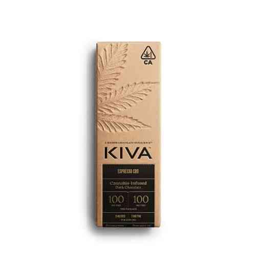 kiva cbd bar - cannabis edible chocolate bar
